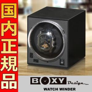 即納可 ボクシーデザイン ワインダー カーボン調 1個巻き アダプターなし BW-BK 1連|ssshokai