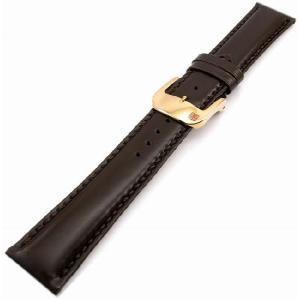 即納可 バンビ レザーベルト【BAMBI 】さとり ハンドステッチ HC006B0-S 豊土(ダークブラウン) 20mm ゴールドバックル 時計用ベルト|ssshokai