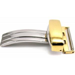 即納可 バンビ BAMBI Dバックル ZG04P 18mm イエローゴールド 腕時計用|ssshokai