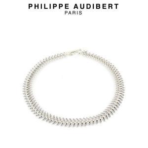 正規品 新作 Philippe Audibert フィリップ オーディベール COLLIER EPI シルバーメタル ネックレス PhilippeAudibert レディース[アクセサリー]|ssshop