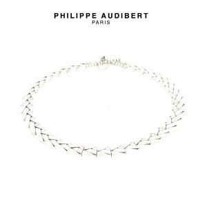 正規品 新作 Philippe Audibert フィリップ オーディベール COLLIER ALIENOR シルバーメタル ネックレス PhilippeAudibert レディース[アクセサリー]|ssshop