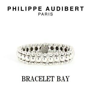 正規品 新作 Philippe Audibert フィリップ オーディベール BRACELET BAY シルバーメタル ブレスレット PhilippeAudibert レディース[アクセサリー]|ssshop