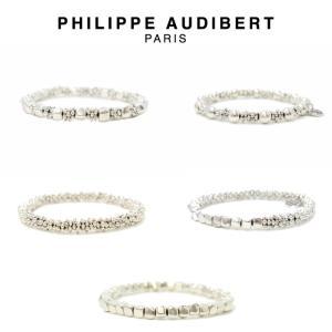 正規品 新作 Philippe Audibert フィリップ オーディベール BRACELET シルバーメタル ブレスレット PhilippeAudibert レディース|ssshop