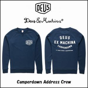 DeusExMachina デウスエクスマキナ Camperdown Address Crew ネイビー スウェット クルーネック 長袖 トレーナー サファリ サーフ バイカー Deus Ex|ssshop
