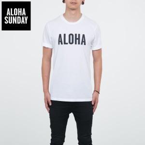 アロハサンデー Tシャツ ALOHA SUNDAY アロハ Tシャツ オフホワイト 2016新作 ALOHA サーフ Tシャツ [衣類]|ssshop