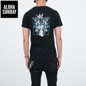 アロハサンデー Tシャツ ALOHA SUNDAY BIRDS バックプリント ブラック 黒 2016新作 ALOHA サーフ Tシャツ [衣類]|ssshop