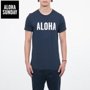 アロハサンデー Tシャツ ALOHA SUNDAY アロハ Tシャツ ネイビー 2016新作 ALOHA サーフ Tシャツ [衣類]|ssshop