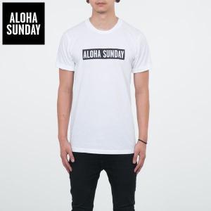 アロハサンデー Tシャツ ALOHA SUNDAY BUMPER BLACK PRINT オフホワイト 白 2016新作バンパープリント サーフ Tシャツ [衣類]|ssshop