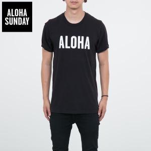 アロハサンデー Tシャツ ALOHA SUNDAY アロハ Tシャツ ブラック 2016新作 ALOHA サーフ Tシャツ [衣類]|ssshop