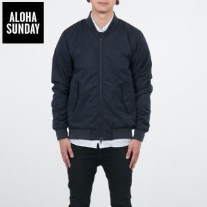 アロハサンデー MA-1 ボンバー ジャケット ALOHA SUNDAY BELLOWS BLACK ブラック 黒 ALOHA サーフ ジャケット [衣類]|ssshop