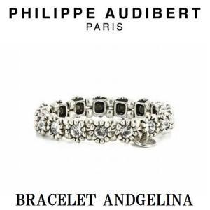 正規品 新作 Philippe Audibert フィリップ オーディベール BRACELET ANDGELINA シルバーメタル ブレスレット バングル PhilippeAudibert レディース[|ssshop