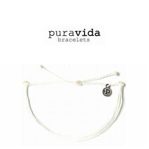 puravida bracelets プラヴィダ ブレスレット SOLID WHITE ソリッド ホワイト ブレスレット pura vida メンズ レディース ユニセックス アンカー[アクセサリー]|ssshop