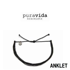 puravida bracelets プラヴィダ BLACK ANKLET ブラックアンクレット pura vida メンズ レディース ユニセックス アンクレット [アクセサリー]