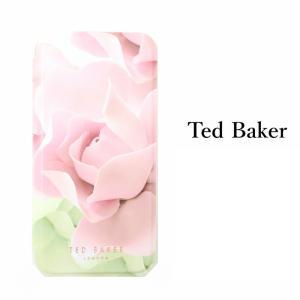 テッドベイカー Ted Baker ミラー付 手帳型 iPhone 5/5s SE 6/6s 7 8 Plus X/XS XR XSMax Case アイフォン ケース 二つ折 花柄 ポーセレンローズ Nude ヌード ssshop