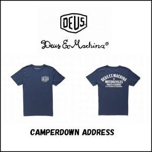 DeusExMachina デウスエクスマキナ CAMPERDOWN ADDRESS TEE  ロゴ Tシャツ プリント バックプリント ネイビー メンズ  Deus Ex Machina[衣類] ssshop