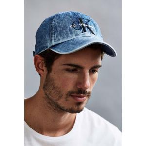 Calvin Klein カルバンクライン LOGO BASEBALL CAP ロゴ デニム キャップ グレー/インディゴ/ブラック Grey/Indigo/Black メンズ レディース ユニセッ|ssshop