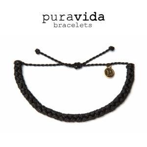puravida bracelets プラヴィダ ブレスレット BLACK BRAIDED ブラック ブレスレット pura vida メンズ レディース ユニセックス アンカー [アクセサリ|ssshop