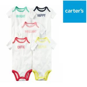 Carter's カーターズ 半袖ボディースーツ 5枚セット 子供服 アウター ベビー服 赤ちゃん 女の子 ロンパース 新生児 0-18ヶ月 ベビーウェア プレゼント|ssshop