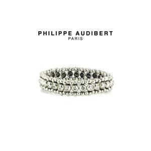 正規品 新作 Philippe Audibert フィリップ オーディベール BRACELET BAY STRASS スワロフスキークリスタル シルバーメタル ブレスレット PhilippeAud|ssshop