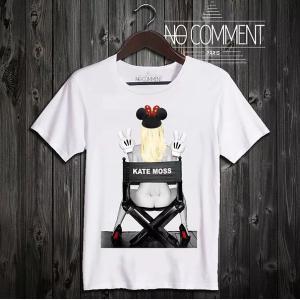 NO COMMENT PARIS ノーコメントパリ 半袖 Tシャツ ホワイト ラウンドネック Vネック メンズ レディース 大きい 小さい T SHIRT kate moss ケイトモス[|ssshop