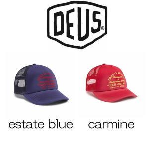 デウスエクスマキナ キャップ Deus Ex Machina Bleached Venice  estate blue / carmine 帽子 ロゴ 刺繍 コットンキャップ ストラップバック[帽子]|ssshop