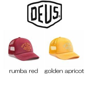 デウスエクスマキナ キャップ Deus Ex Machina Bleached Canggu  rumba red / golden apricot 帽子 ロゴ 刺繍 コットンキャップ ストラップバック[帽子]|ssshop