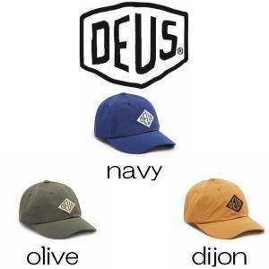 デウスエクスマキナ キャップ Deus Ex Machina Rowley Cap navy / olive / dijon 帽子 ロゴ 刺繍 コットンキャップ ストラップバック[帽子]|ssshop