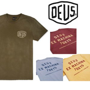 DeusExMachina デウスエクスマキナ SUNBLEACHED TOKYO TEE ロゴ Tシャツ 半袖 プリント バックプリント Deus Ex Machina ssshop