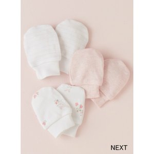 ネクスト ベビー NEXT ピンク スクラッチミトン 3 双パック ひっかき防止 ベビーミトン ウサギ 無地 ストライプ 子供服 ベビー服 手袋 ミトン 新生児 0-18ヶ月|ssshop