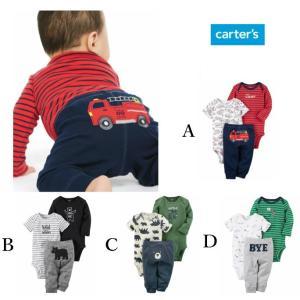 Carter's カーターズ 半袖・長袖ボディスーツ&パンツ 3点セット リトルキャラクターセット 子供服 アウター ベビー服 赤ちゃん 男の子 ロンパース|ssshop