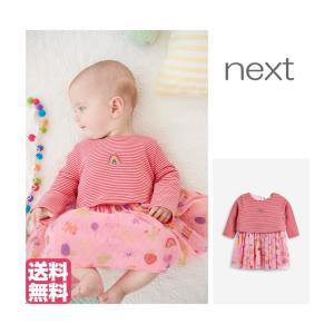 ネクスト ベビー NEXT ピンク レインボー チュチュ ワンピース 長袖 スカート 総柄 着せやすい 子供服 ベビー服 女の子 新生児 おでかけ[衣類] ssshop