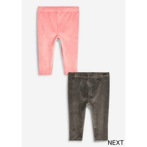 ネクスト ベビー NEXT ピンク グレー ベロア レギンス 2 枚組 ロングパンツ 無地 子供服 ベビー服 女の子 ユニセックス ベビーウェア 新生児 おでかけ|ssshop