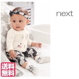 ネクスト ベビー NEXT グレー / ピンク / ホワイト ウサギ柄 ソックス 4 足パック 総柄 アニマル柄 パジャマ 子供服 ベビー服 女の子 新生児 おでかけ [衣類]|ssshop