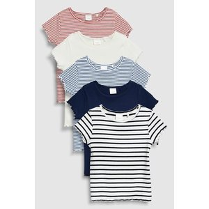 4ab9337aa8f6b ネクスト ベビー NEXT ホワイト   ネイビー   レッド ストライプ 半袖 Tシャツ 5 枚パック 総柄 無地 子供服 ベビー服 女の子 新生児  ベビーウェア おでかけ 衣