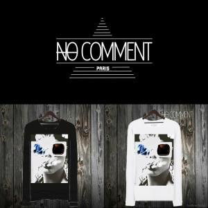 NO COMMENT PARIS ノーコメントパリ 長袖 Tシャツ ブラック ホワイト メンズ 大きい 小さい 3D・グラッシー 3d-glasses-NEW40|ssshop