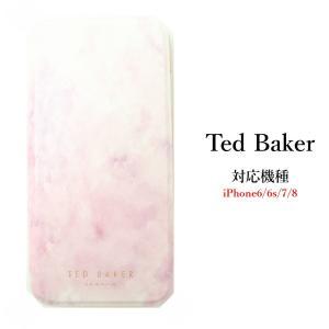 テッドベイカー Ted Baker ミラー付 カードスロット付 手帳型 iPhone 6/6s 7 8 Case アイフォン ケース 二つ折 PIPPY  ROSE  ピッピー ローズ ssshop