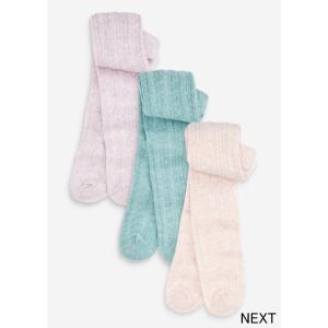 ネクスト ベビー NEXT ピンク ミント ライラック ケーブルタイツ 3 足パック 子供服 ベビー服 女の子 靴下 新生児 おでかけ[衣類]|ssshop
