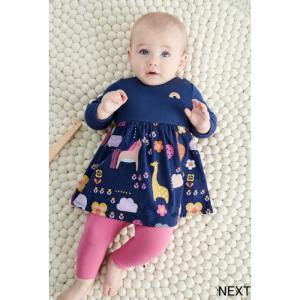 ネクスト ベビー NEXT  ネイビー ドレス レインボー アニマル 長袖 スカート 着せやすい 子供服 ベビー服 女の子 パーティ 新生児 おでかけ[衣類] ssshop