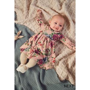 ネクスト ベビー NEXT ピンク フローラル ジャージー ワンピース長袖 スカート 着せやすい 子供服 ベビー服 女の子 パーティ 新生児 おでかけ[衣類] ssshop