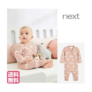 ネクスト ベビー NEXT ピンク レインボー ニット ロンパース 長袖 ロンパース ボタン付き 子供服 ベビー服 パジャマ 女の子 ユニセックス 新生児 おでかけ|ssshop