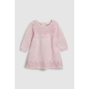 ネクスト NEXT ピンク ニットワンピース スカート ワンピース リーフ模様 長袖 無地 子供服 ベビー服 女の子 新生児 0-18ヶ月 ベビーウェア おでかけ[衣類] ssshop