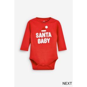 ネクスト ベビー NEXT レッド Santa Baby 長袖 ボディスーツ クリスマス サンタ サンタクロース ロンパース 1枚 文字入り 子供服 ベビー服 男の子 女の子 ユニセ|ssshop