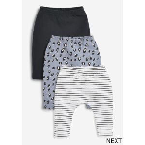 ネクスト ベビー NEXT モノトーン ライラック レギンス 3 枚組 ロングパンツ 無地 ボーダー 子供服 ベビー服 女の子 ユニセックス ベビーウェア 新生児 おでかけ|ssshop