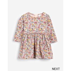 ネクスト ベビー NEXT  Pink Ditsy スウェット ワンピース 花柄 長袖 スカート 着せやすい 子供服 ベビー服 女の子 パーティ 新生児 おでかけ[衣類] ssshop