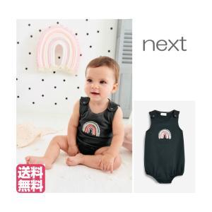 ネクスト ベビー NEXT チャコール レインボー ロンパース 刺繍入り ベビー服 女の子 新生児 ベビーウェア おでかけ[衣類]|ssshop