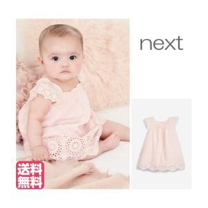 ネクスト ベビー NEXT 刺繍入り ピンク ワンピース スカート レース 半袖 花柄 子供服 ベビー服 ベビーウェア 女の子 パーティ おでかけ 新生児 [衣類] ssshop