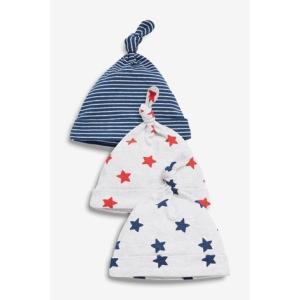ネクスト ベビー NEXT Multi スター 結び目トップ 帽子 3 枚パック ハット 星柄 ベビー服 男の子 新生児 ベビーウェア おでかけ|ssshop