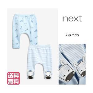 ネクスト ベビー NEXT ブルー アニマル レギンス2パック ロングパンツ 総柄 ストライプ 子供服 ベビー服 男の子 ベビーウェア 新生児[衣類]|ssshop