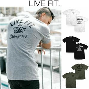 リブフィット LIVE FIT Athletic Goods Tee 半袖 Tシャツ メンズ 筋トレ ジム ウエア スポーツウェア 正規品[衣類]|ssshop