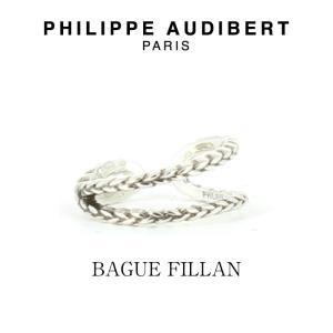 正規品 新作 Philippe Audibert フィリップ オーディベール BAGUE FILLAN シルバーメタル リング 指輪 PhilippeAudibert レディース[アクセサリー]|ssshop